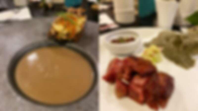 蚵爹味噌牛蒡湯、韓式花生豬腳