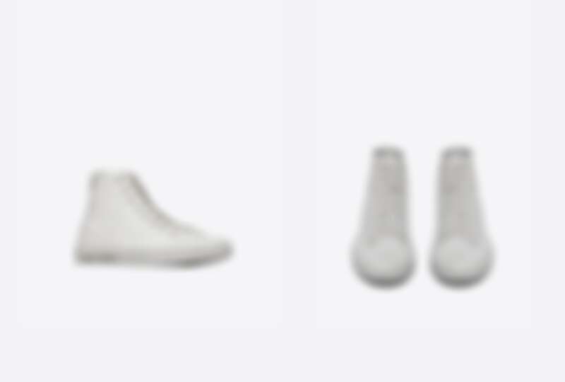 Saint Laurent帆布皮革中筒運動鞋,NT21,450