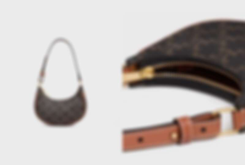 CELINE Triomphe帆布及小牛皮迷你型AVA手袋,NT31,500