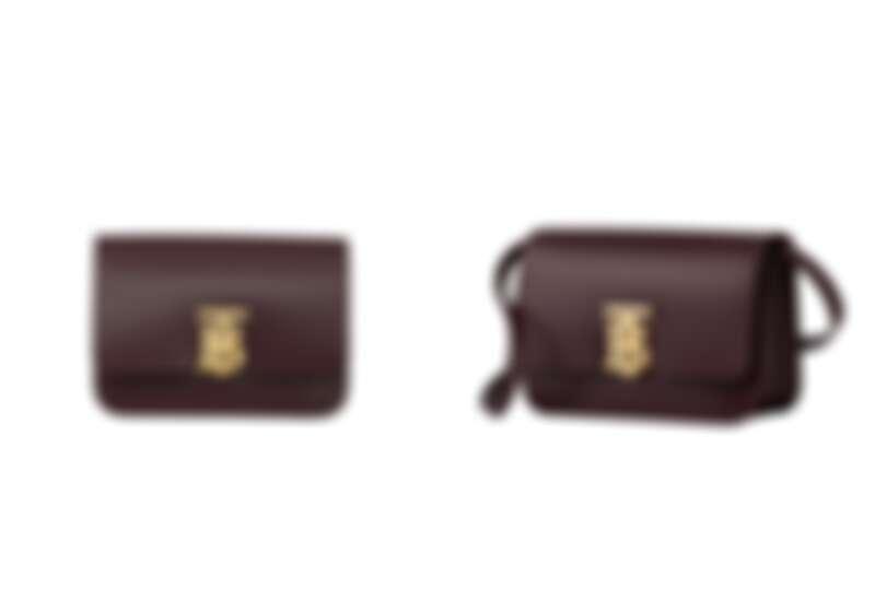 Burberry小型皮革TB包深魔力紅,NT85,000