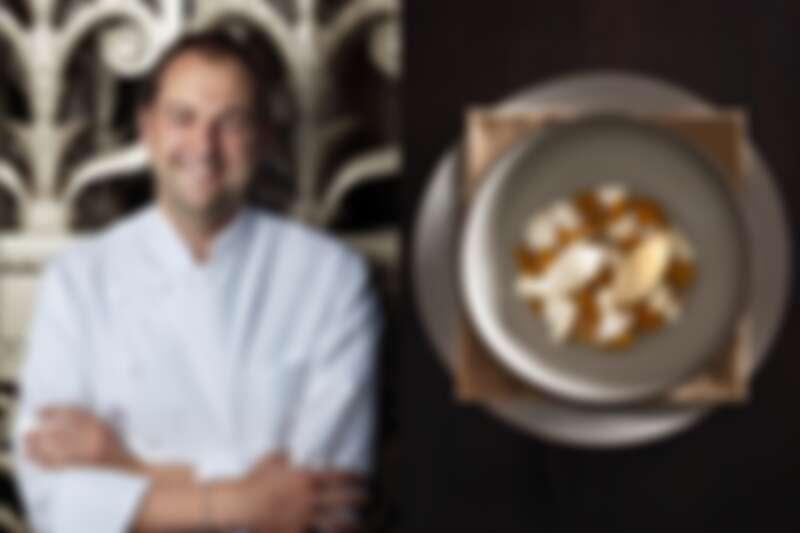 Daniel Humm 最新菜色《Milk & Honey》(蜂蜜 / 牛奶)。
