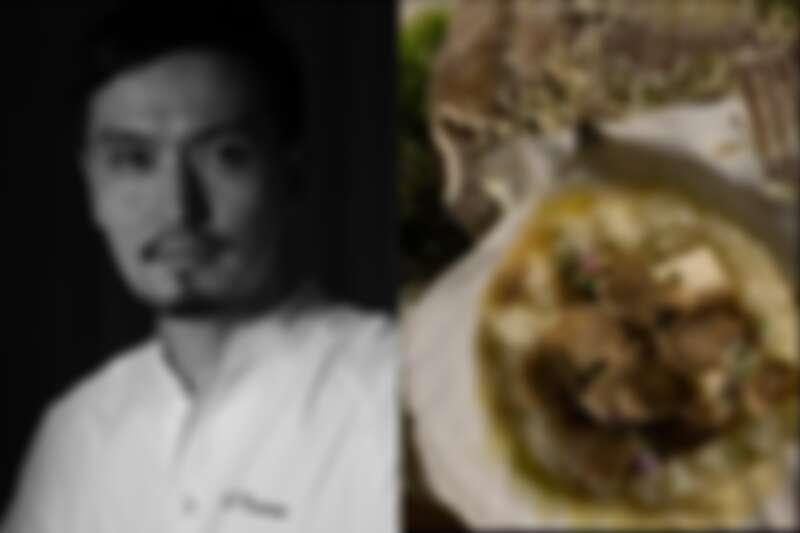 生江史伸與《Risotto of Abalone, Karasumi and Truffle》(鮑魚 / 烏魚子 / 松露燉米)