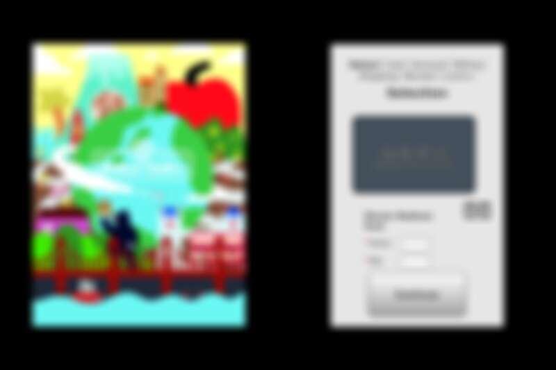 左為「World Tour III」主視覺,右為《Table for Future》未來餐券活動線上餐券購買畫面。
