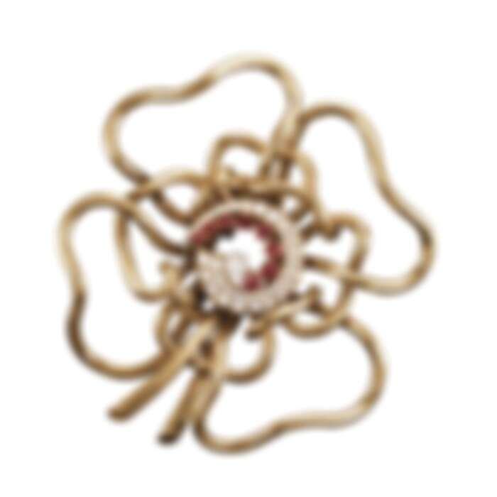 SILHOUETTE FLOWER胸針,1937年,黃K金、紅寶石、鑽石,Van Cleef & Arpels梵克雅寶系列