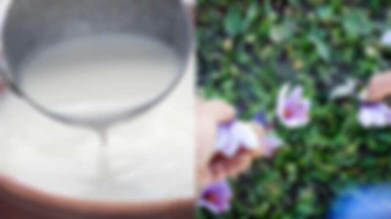 (左)KORRES希臘優格系列主成份萃取自擁有全球最好品質的希臘優格、(右)位於希臘北部河谷的柯札尼 當地的番紅花被認為擁有全世界最佳品質。
