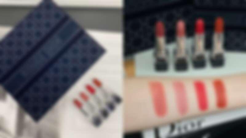DIOR迪奧藍星高訂絲絨禮盒,左起為#772,、#720、#999、#840。