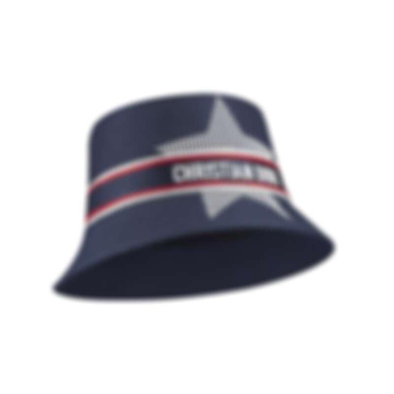 DiorAlps系列藍色尼龍刺繡短簷漁夫帽,NT40,500