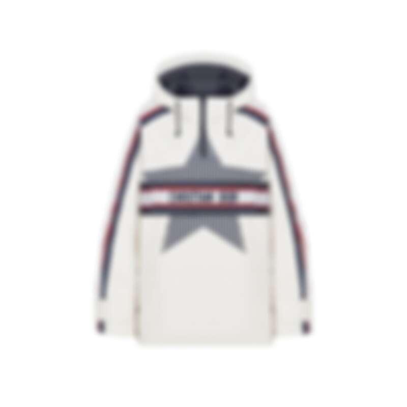 DiorAlps系列白色亮面尼龍連帽外套,NT200,000