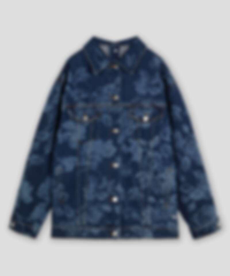 MSGM 玫瑰印花丹寧外套,NT21,300。