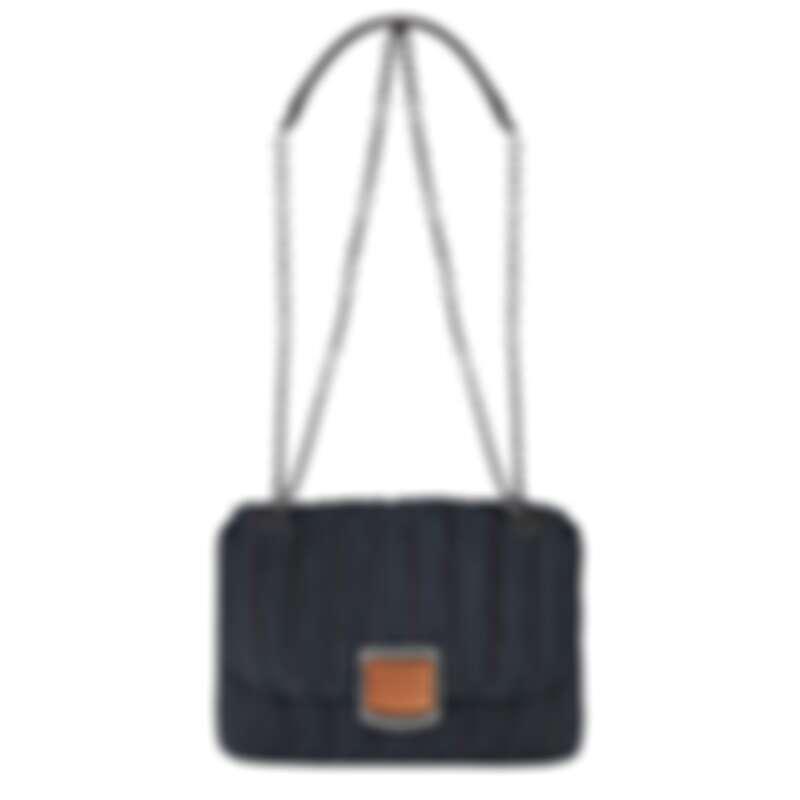 Longchamp Brioche丹寧斜背袋(S),售價NT$22,000