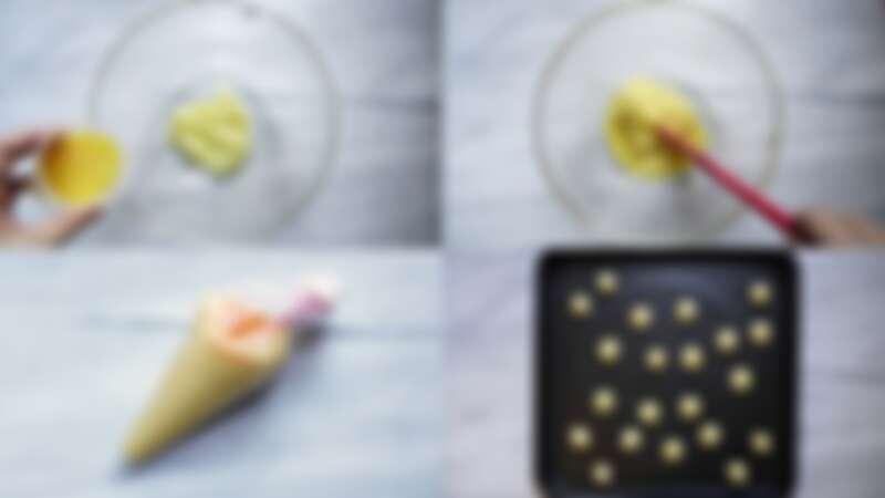 在家自製簡單又美味的巧克力小泡芙,步驟3~5。圖/宅時尚甜點by大口心心。