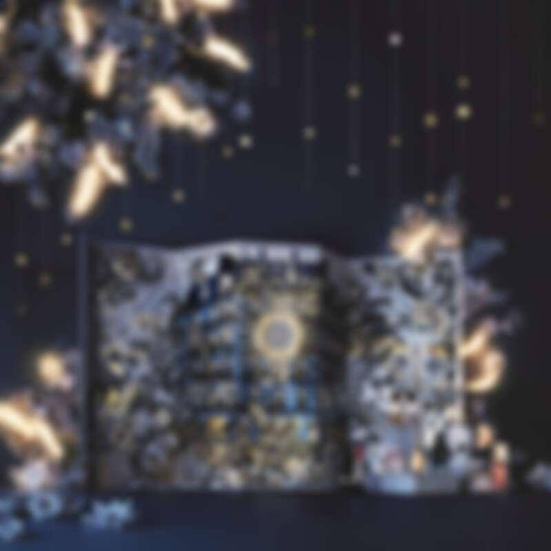 DIOR迪奧2021繁花幻境聖誕倒數日曆,午夜藍X金的配色太美麗。