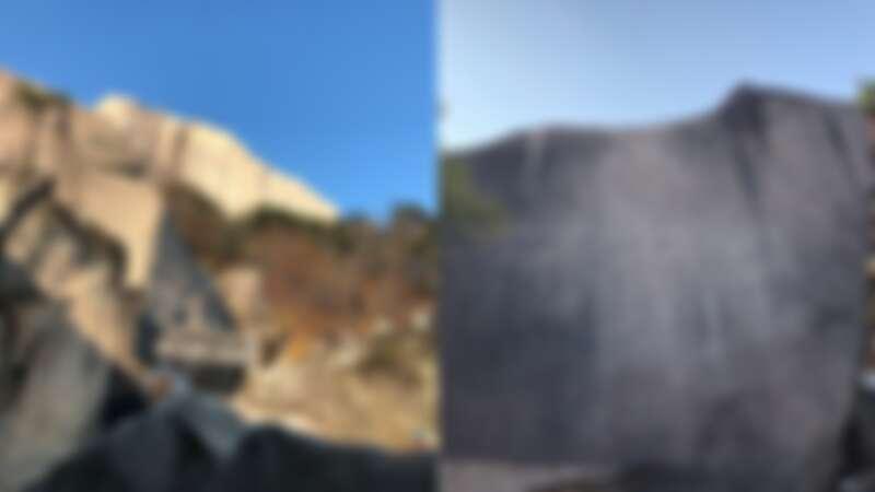 韓國雪嶽山繼祖庵,右邊岩壁上還有刻字。