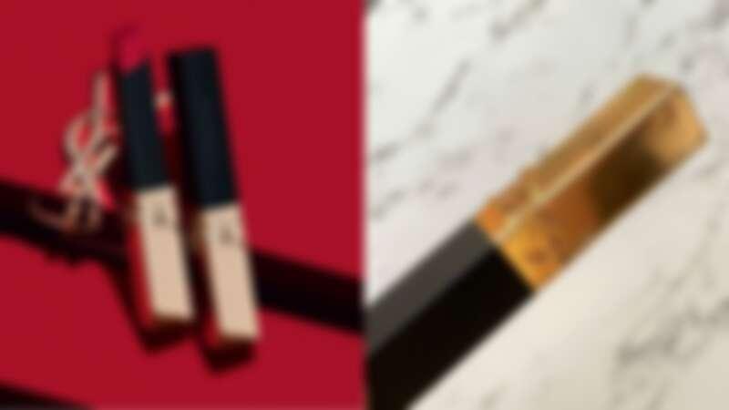 YSL 奢華緞面絲絨唇膏浮刻不羈版,精緻浮雕管身。