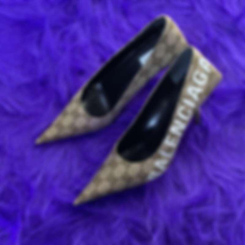 Gucci X Balenciaga緹花高跟鞋,NT37,000