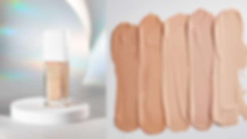 帶有蜜桃清香的1028極上鏡柔光超磁水粉底特別推出五款粉底色選,因應亞洲人各種膚色及冷暖色調,在開架彩妝也能找出專櫃等級命定底妝。