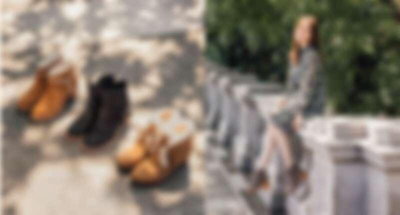 Kasen 粗跟短靴 NT.7500;Elora 皮帶造型粗跟短靴 NT.9000;Jeovana 羊毛滾邊楔型短靴 NT.7800 / Carin流蘇 粗跟短靴 NT.7000