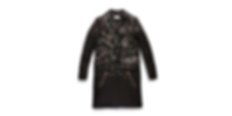 鉚釘裝飾皮革大衣,NT92,800