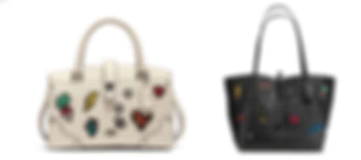 Coach Mercer 24刺繡拼貼皮革手袋,NTD 19,800 / Market 皮革托特手袋,NTD 23,800