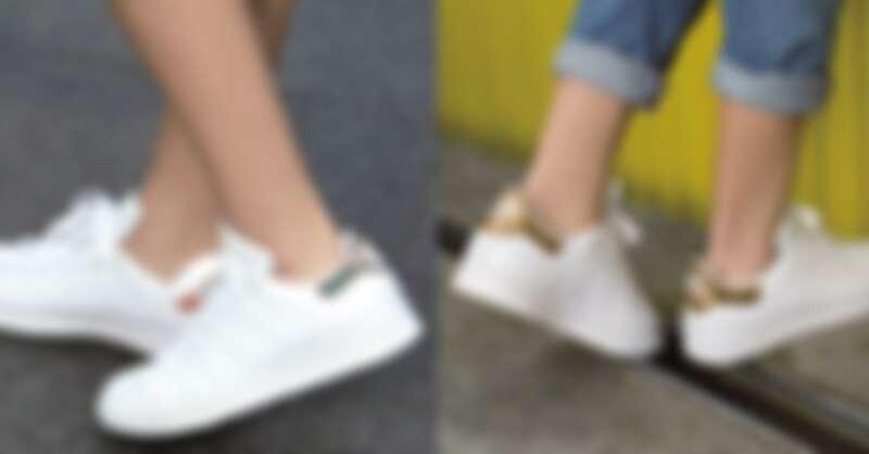 左:Farm聯名系列Stan Smith,NT$3,290;右:金色Stan Smith,NT$3,290;以上為adidas Originals