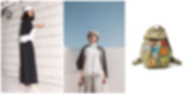 由左至右:BEAMS選品,Ray BEAMS女裝、LAYERING女裝、Ray 貼圖背包