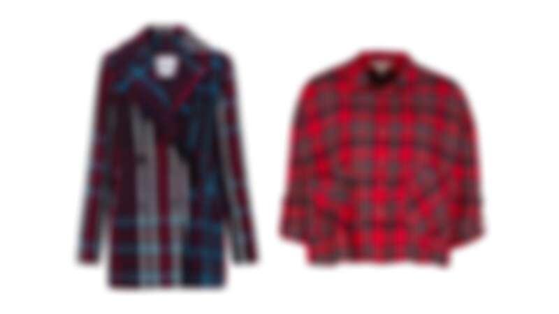 格紋大衣,NT6490 /格紋短版襯衫,NT1790