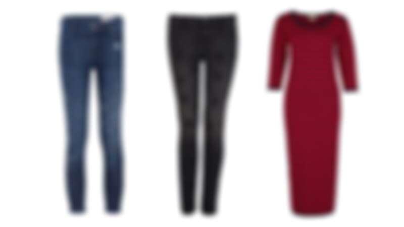 潑漆牛仔褲,NT$2990/星星圖案牛仔褲,NT$2990/條紋針織洋裝,條紋針織洋裝,NT$2490