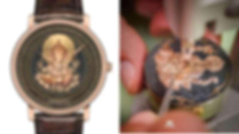 Blancpain 赤金銅大馬士革金雕