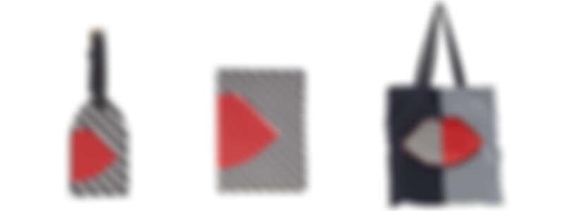 .(由左至右) 紅唇行李吊牌NT1,680/ 幾何紅唇名片夾NT2,680/ 5050 LIP收納購物袋 NT2,680