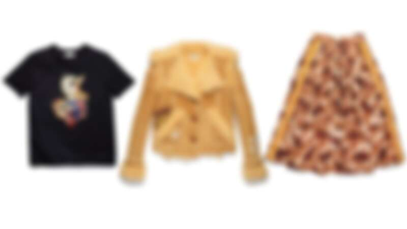 Dr. Doodle Duck珠片短袖上衣NT6,900、刺繡翻皮羊毛大衣NT98,800、草原馬兒圖騰傘裙NT29,800