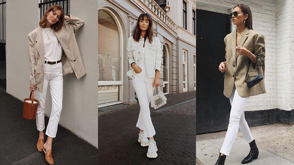 才不是要去打太極咧!三種白褲穿搭示範,用白色下著穿出清爽感!
