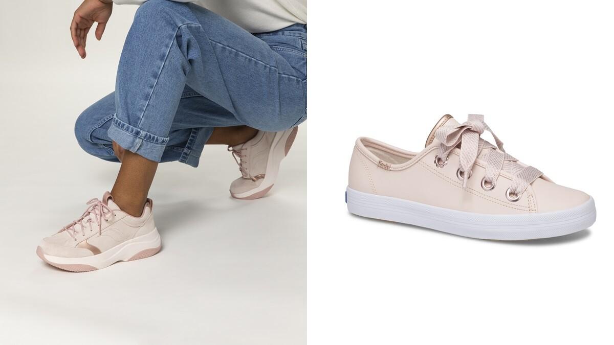 玫瑰金搭上麂皮太犯規!Keds首度推出老爹鞋K89,經典小白鞋換上夢幻粉還有緞帶鞋帶