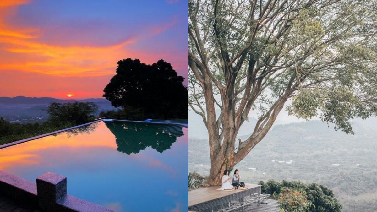 台南旅遊秘境!「仙湖農場」宛如漂浮雲海中,早晨、夕陽美如山水畫,還有無邊際泳池、飽覽360度山景