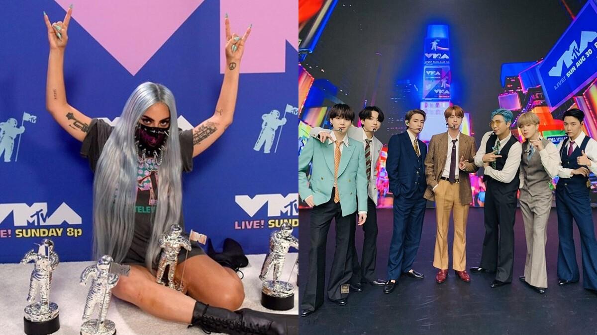 2020 MTV音樂錄影帶大獎名單!女神卡卡橫掃5項大獎,BTS防彈少年團西裝造型演出〈Dynamite〉太帥了