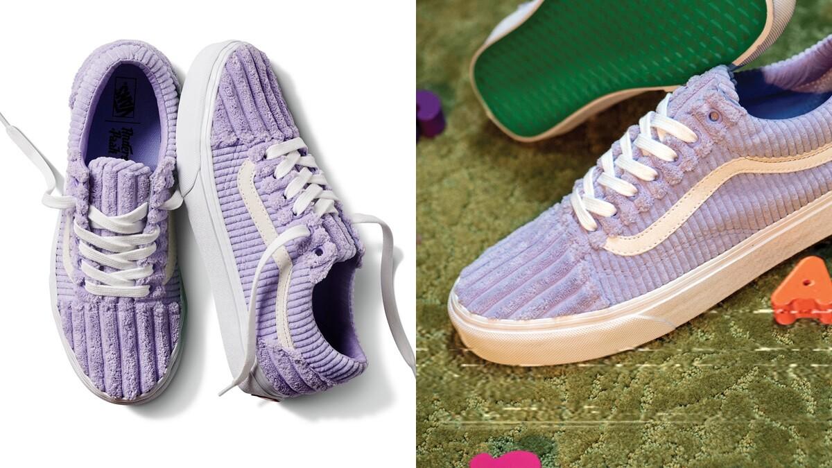Vans為明星鞋款Old Skool推出2款薰衣草紫夢幻配色,還有應景冬日的燈芯絨材質