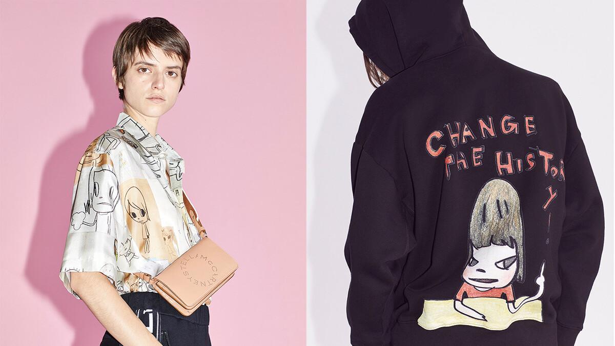 Stella McCartney X 奈良美智首度聯名打造服飾系列!超可愛插圖+個性塗鴉文字,中性輪廓男女穿都好看