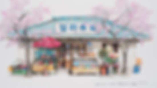 重拾兒時點滴!韓國插畫家手繪雜貨店懷舊美好風情