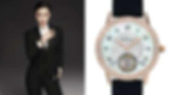 太帥氣!范爺范冰冰出任萬寶龍(Montblanc)全球品牌大使,俐落西裝搭配陀飛輪機械錶款演繹自信女人味