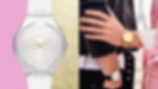 Swatch把金屬變輕薄了!5.8mm的超薄身形搭配極簡風,使你隨心所欲展現優雅時髦風潮!