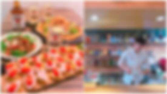 上南崁必吃的超獨門義式料理!充滿濃濃異國風情「The Fat Yak胖犛牛異國料理西餐」的賽巴斯丁軟殼蟹披薩、老闆招牌起司水果拼盤果真名不虛傳