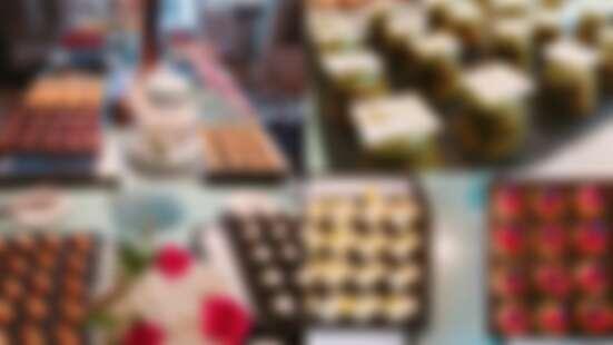 一整排的繽紛甜點自助吧讓你吃到飽!文華東方酒店文華Café推出週末限定下午茶