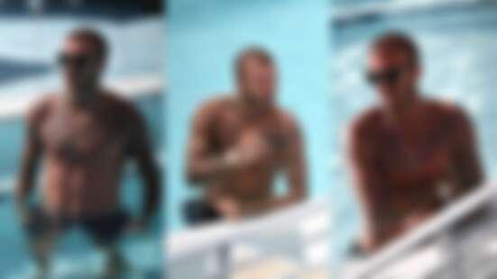 43歲還是那麼帥!貝克漢精壯身材依舊,邁阿密一系列泳池照根本太養眼