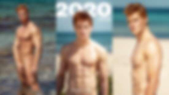2020年RED HOT超養眼猛男全裸年曆熱辣來襲!陽光歐洲紅髮鮮肉性感登場