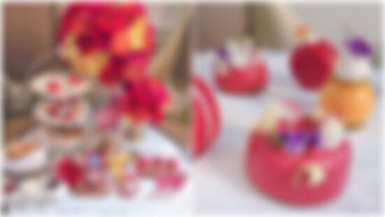 以可愛化妝品造型為靈感~文華東方X香緹卡推出「絢爛夏花下午茶」,打造濃郁繽紛的夏季甜點