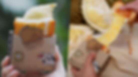 加入整顆榴槤的爆漿吐司!「The Volcano」烤吐司店推出榴槤吐司加牽絲起司,挑戰大家味覺與嗅覺極限