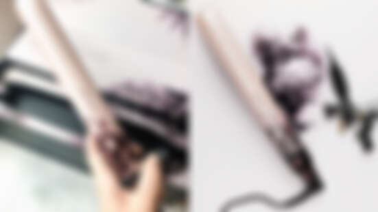 ghd離子夾推出超夢幻玫瑰粉版本!聯名刺青師印上粉墨花瓣圖案,完全美出新高度!
