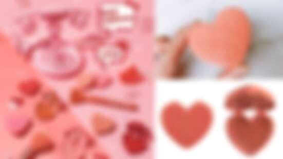 泰國彩妝4U2愛心刻字腮紅可愛到太犯規!3種質地共30款美色全登場,一秒擊中少女心