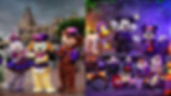 香港迪士尼大開萬聖節趴!達菲熊換紫色新衣超可愛、戴上「惡人頭飾」秒變派對女王