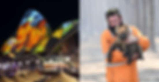 澳洲大火28位消防員殉職!雪梨歌劇院屋頂投影感念英雄偉大付出!