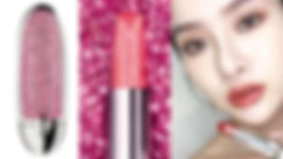 嬌蘭2020年全新「紅寶之吻高訂晶鑽唇膏」,真的加入鑽石粉末!#235光透番茄紅一擦美炸了